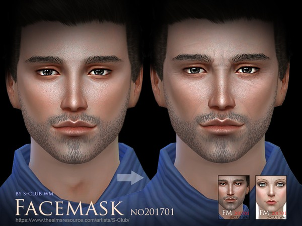 Facemask 201701 by S Club WM at TSR image 3719 Sims 4 Updates