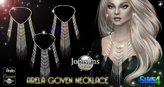 Sims 4 Arela Goven necklace at Jomsims Creations