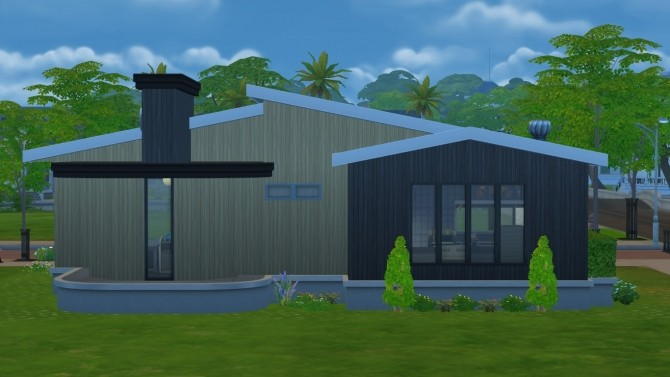 The Black Garden house by terrifreak at Mod The Sims image 376 670x377 Sims 4 Updates