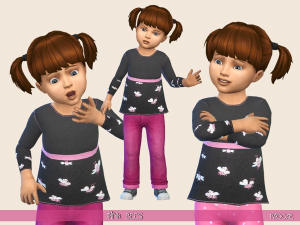 Sims 4 PinkBees sweater by Paogae at TSR