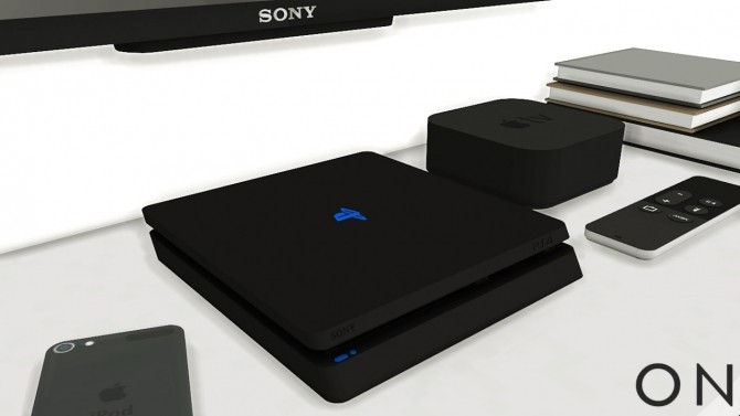 PlayStation 4 Slim + Earpods + Apple iPad Air 2 with dock at MXIMS image 379 670x377 Sims 4 Updates