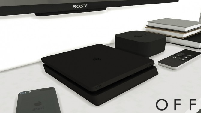 PlayStation 4 Slim + Earpods + Apple iPad Air 2 with dock at MXIMS image 380 670x377 Sims 4 Updates