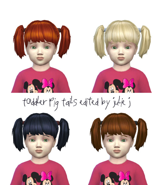 Toddler Pig Tails Edited at Julietoon – Julie J image 3841 Sims 4 Updates