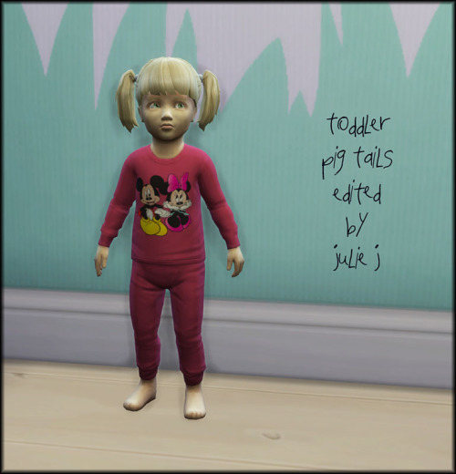 Toddler Pig Tails Edited at Julietoon – Julie J image 38511 Sims 4 Updates