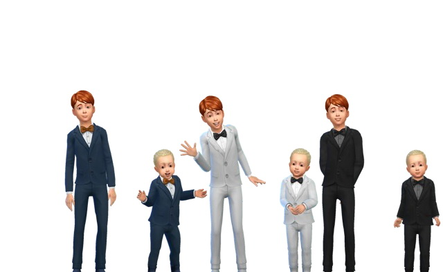 Toddlers formal suit converted for kids by G1G2 at SimsWorkshop image 3912 Sims 4 Updates
