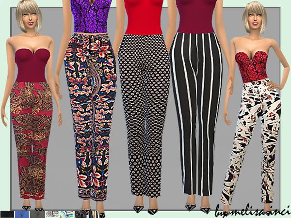 Sims 4 Cropped straight Leg Pants by melisa inci at TSR