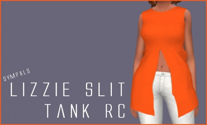 Lizzie Slit Tank RC by Sympxls at SimsWorkshop image 395 670x405 Sims 4 Updates