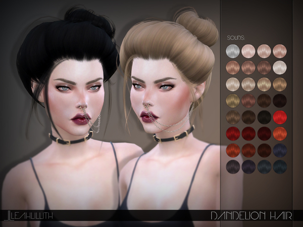 Sims 4 Dandelion Hair by Leah Lillith at TSR