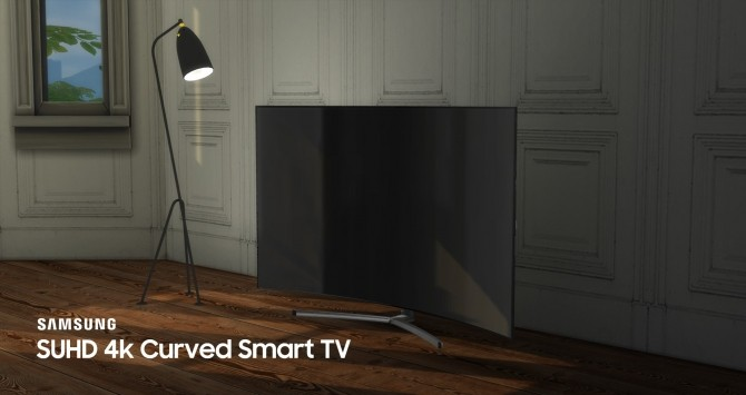 Sims 4 SUHD 4k Curved Smart TV by littledica at Mod The Sims