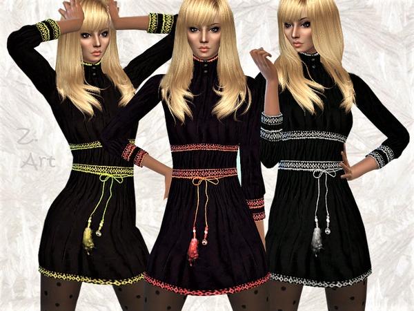 Sims 4 Winter CollectZ 02 dress by Zuckerschnute20 at TSR