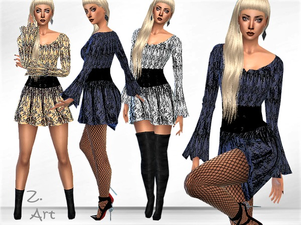 TrendZ.01 mini dress by Zuckerschnute20 at TSR image 410 Sims 4 Updates