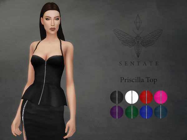 Sims 4 Priscilla Top by Sentate at TSR