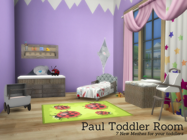 Sims 4 Paul Toddler Room by Angela at TSR
