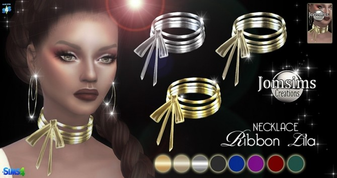 Ribbon Lila necklace at Jomsims Creations image 413 670x355 Sims 4 Updates
