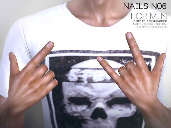 Nails For Men N06 by Pralinesims at TSR image 418 Sims 4 Updates