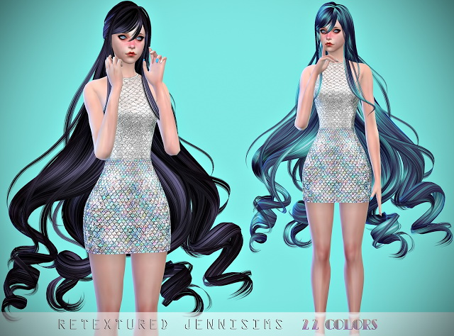 Newsea SteamMist Hair retexture at Jenni Sims image 419 Sims 4 Updates