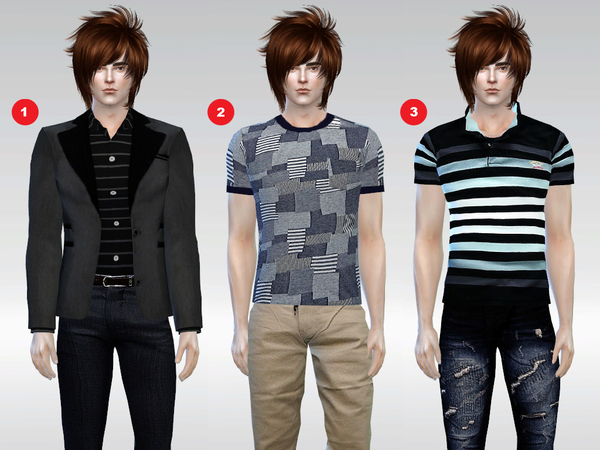 Sims 4 Kyle Patrick Tops Set by McLayneSims at TSR