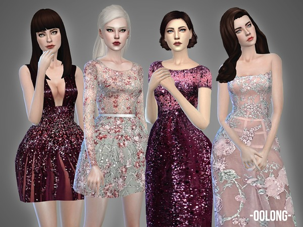 Oolong Dresses Collection by April at TSR image 4216 Sims 4 Updates