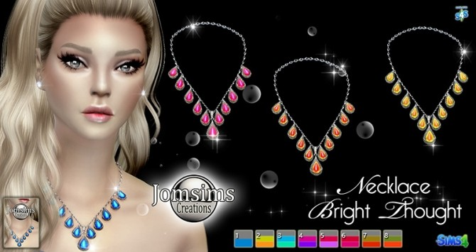 Sims 4 Bright thought collier at Jomsims Creations