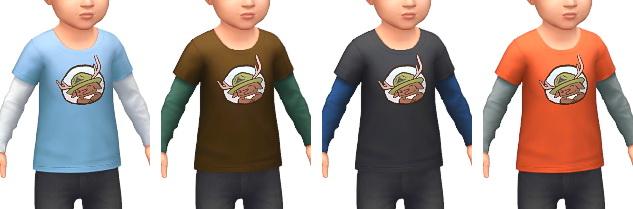 Layered T Shirts at Marvin Sims image 4241 Sims 4 Updates