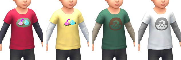 Layered T Shirts at Marvin Sims image 4251 Sims 4 Updates