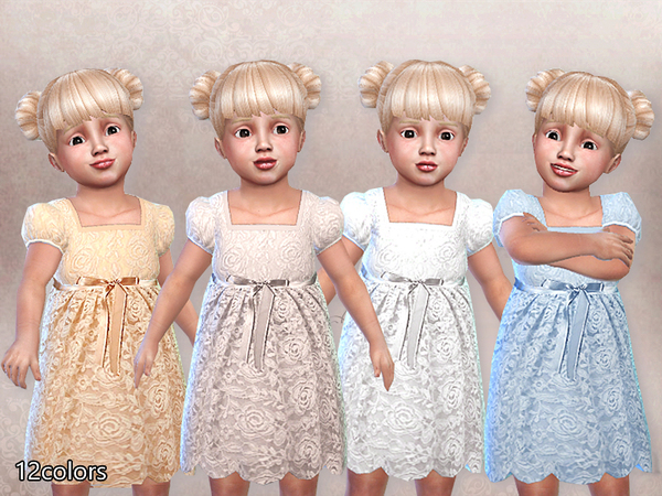 Sims 4 Sweetheart Dress for Toddlers by Pinkzombiecupcakes at TSR