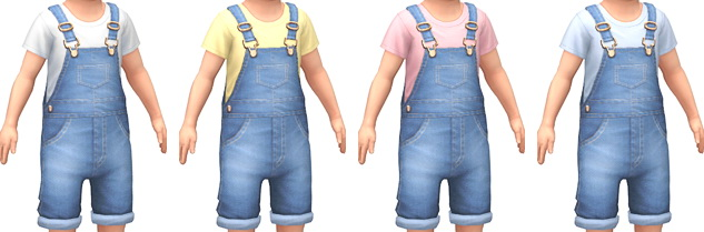 Denim Overalls at Marvin Sims image 430 Sims 4 Updates