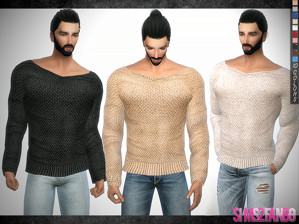 Sims 4 296 Muscle Jumper by sims2fanbg at TSR