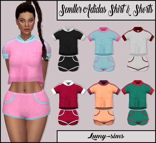 Sims 4 Semller Shirt & Shorts at Lumy Sims