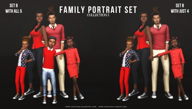 Family Portrait Collection: One at Onyx Sims image 435 670x381 Sims 4 Updates