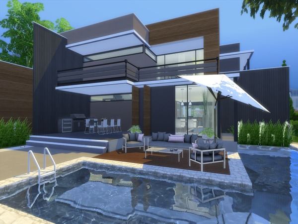 Modern Saniya house by Suzz86 at TSR image 44 Sims 4 Updates