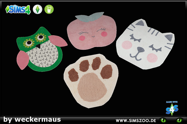 Sims 4 Mixed Kids Rugs by weckermaus at Blacky's Sims Zoo
