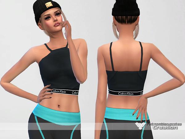 Sims 4 Saturday Designer Crop Top by Pinkzombiecupcakes at TSR