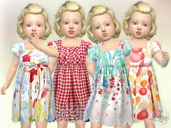 Birthday Party Toddler Dress by lillka at TSR image 4712 Sims 4 Updates