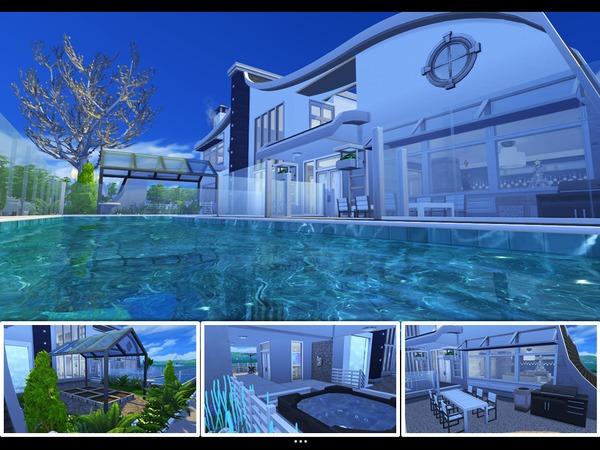 Sims 4 Sea Breeze house by mlpermalino at TSR