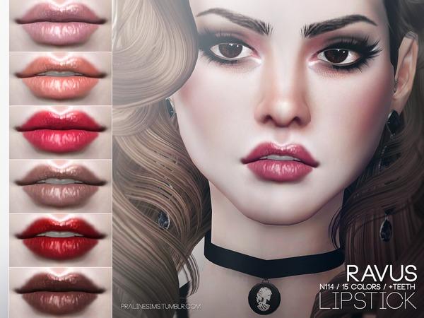 Sims 4 Ravus Lipstick N114 by Pralinesims at TSR
