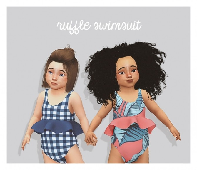 Sims 4 Ruffle swimsuit at Puresims