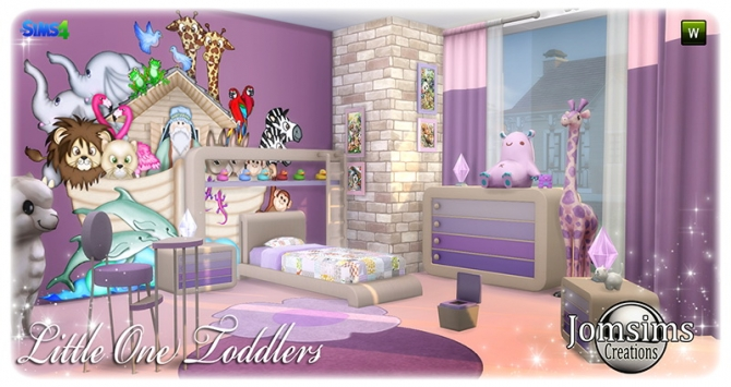 Little One Toddlers Bedroom At Jomsims Creations 187 Sims 4