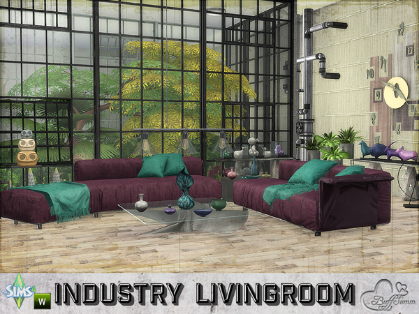 Industry livingroom by BuffSumm at TSR image 510 Sims 4 Updates
