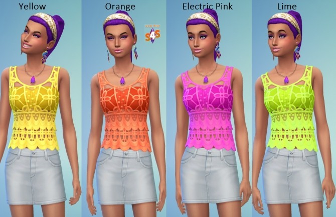 EP01 Recoloured Female Crochet Top 24 Colours by wendy35pearly at Mod The Sims image 5110 670x434 Sims 4 Updates