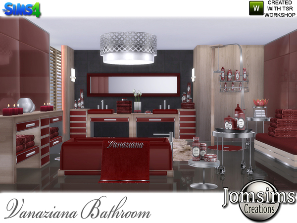 Vanaziana bathroom by jomsims at TSR image 520 Sims 4 Updates