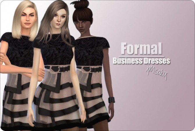 Business Dresses at xMisakix Sims image 521 670x449 Sims 4 Updates