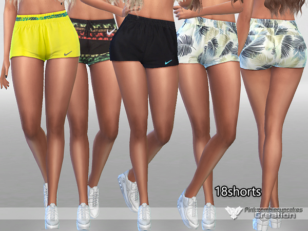 Sims 4 Sporty Shorts Pack by Pinkzombiecupcakes at TSR