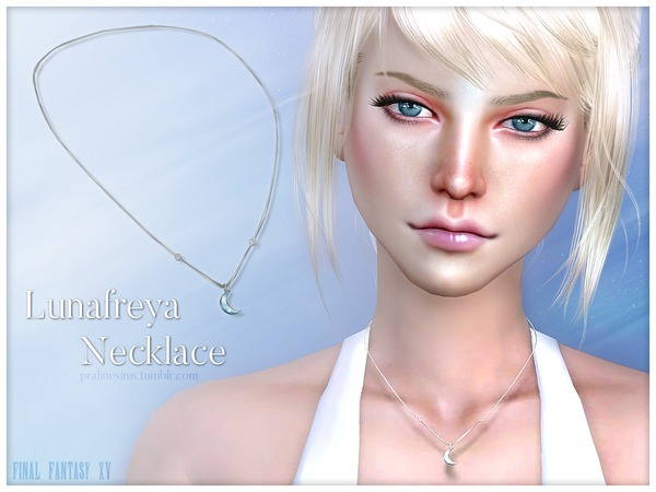 Sims 4 Lunafreya necklace by Pralinesims at TSR