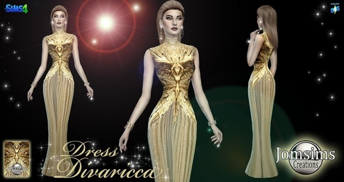 Divaricca dress at Jomsims Creations image 535 670x355 Sims 4 Updates