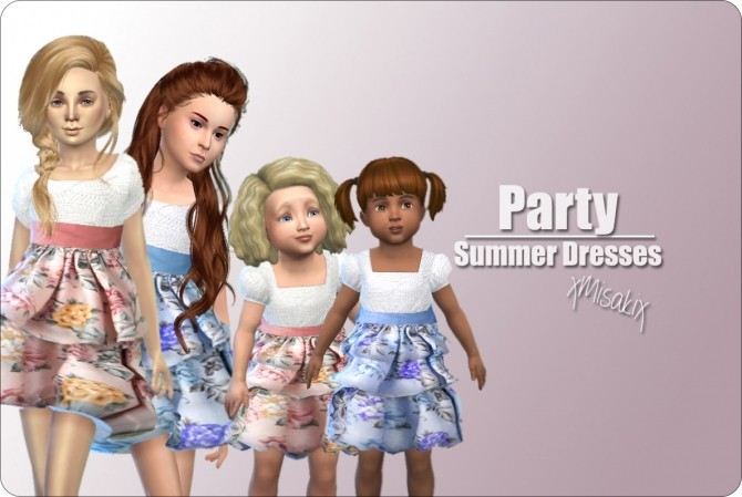 Sims 4 Summer Dresses at xMisakix Sims