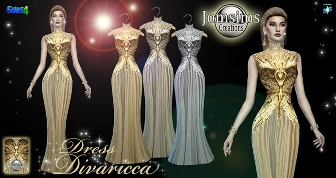 Divaricca dress at Jomsims Creations image 546 670x355 Sims 4 Updates
