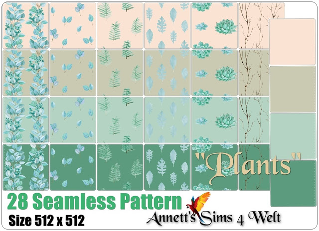 28 Seamless Pattern Plants at Annett's Sims 4 Welt image 552 Sims 4 Updates