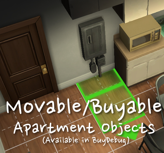 Moveable/Buyable City Living Apartment Objects By NikNak513 At Mod The Sims