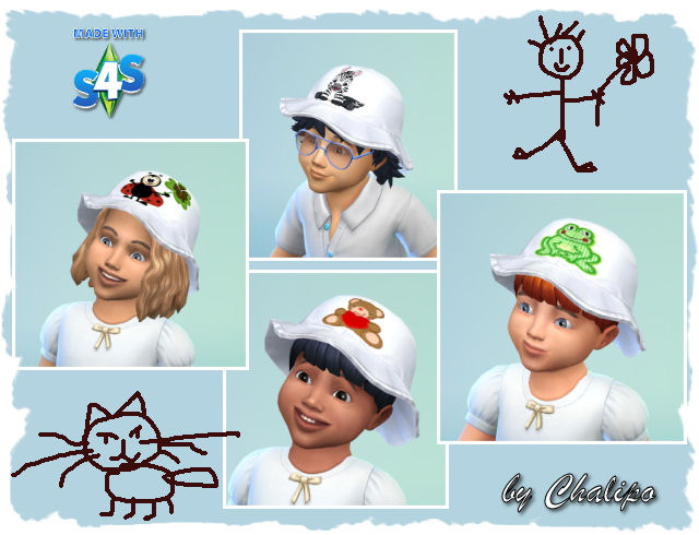 Toddler hat by Chalipo at All 4 Sims image 5711 Sims 4 Updates